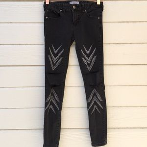 Free People | skinny jeans ikat arrow chevron 25